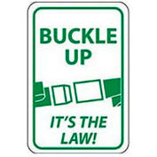 """Aluminum Sign -  Buckle Up Its The Law - .063"""" Thick, TM135H"""