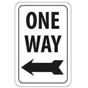 "Reflective Aluminum Sign - One Way Left Arrow- .080"" Thick, TM22J"