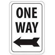 "Reflective Aluminum Sign - One Way Left Arrow- .080"" Thick, TM22J"