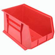 "Akro-Mils AkroBin® Plastic Stacking Bin 30260 - 11""W x 18""D x 10""H, Red - Pkg Qty 6"