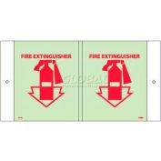 Fire Extinguisher Sign - Glow Acrylic 5-3/4 x 8-3/4