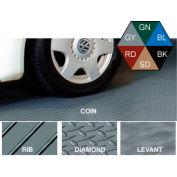 Polyvinyl Floor Covering 10' X 24' Rib Pattern Gray