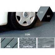 Polyvinyl Floor Covering 10'X 24' Diamond Pattern Gray