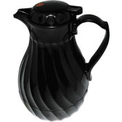Poly Lined Black Swirl Design Carafe, 64 oz. Capacity