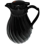 Poly Lined Black Swirl Design Carafe, 64 oz. Capacity