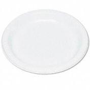 "Plastic Dinnerware, Plates, 9"" Diameter, White, 125 per Pack"