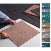 "Heavy Duty Berber Carpet Tile 19-7/8"" X 19-7/8"", 16 Tiles Per Box Steel Gray"