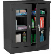 Sandusky Clear View  Counter Height Cabinet CA2V361242 - 36x12x42, Black