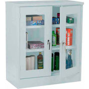 Sandusky Clear View  Counter Height Cabinet CA2V361242 - 36x12x42, Light Gray
