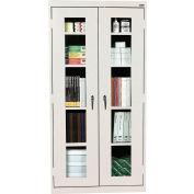 Sandusky Clear View Storage Cabinet CA4V361272 -36x12x72, Light Gray