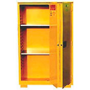 "Jamco Flammable Cabinet FF60 - with Legs - Bi-Fold Single Door 60 Gallon - 34""W x 34""D x 69""H"