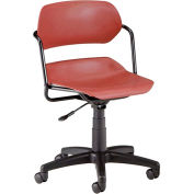 OFM Martisa Series Swivel Task Chair with Black Frame, Plastic, Mid Back, Wine