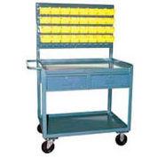 2 Drawer Bin Panel Mobile Service Bench 36 x 24 x 60