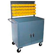Cabinet with Bin Panel Mobile Service Bench 36 x 24 x 60