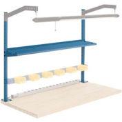 """60""""W Upright Kit with 12""""D Shelf, 48""""H - Blue"""