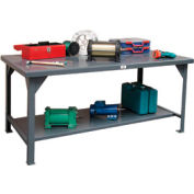 Strong Hold 72X 36 Steel Top Fixed Leg Work Table