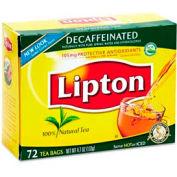 Lipton Tea Bags, Decaffeinated, 72/box