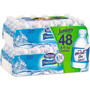 100% Pure Natural Bottled Spring Water Bottles, 8 Oz, 24/Carton