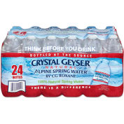 100% Pure Natural Bottled Spring Water Bottles, 16.91 Oz, 24/Carton