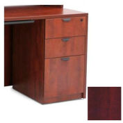 3 Drawer Pedestal in Mahogany - Manager Series