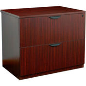 2 Drawer Lateral File in Mahogany - Manager Series
