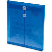 Ultracolor Expandable Poly String Tie Envelopes, Top Load, Blue, 5/Pack