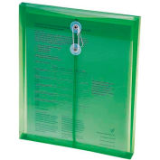 Ultracolor Expandable Poly String Tie Envelopes, Top Load, Green, 5/Pack