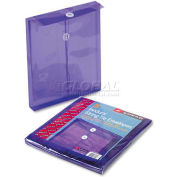 Ultracolor Expandable Poly String Tie Envelopes, Top Load, Purple, 5/Pack