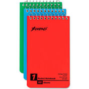 Wirebound Pocket Memo Book, College/Narrow Rule, 3 x 5, 60 Sheets/Pad, 3 Pads/Pk