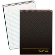 Wirebound White Legal Pad w/ Designer Gray Cover, 8-1/2 x 11-3/4, 70 Sheets/Pad