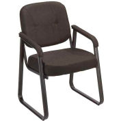 Fabric Reception Chair Black