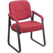 Guest Chair - Fabric - Burgundy