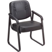 Anti-Microbial Reception Chair - Vinyl - Black