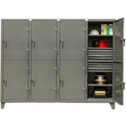 Strong Hold® Standard Locker 86-24-2TPL-16DB - Double Tier With 16 Drawers