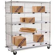 Nexel® Enclosed Wire Exchange Truck 5 Wire Shelves 1000 Lb. Cap.