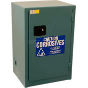 "Global&#8482 Acid Corrosive Cabinet - Manual Close Single Door 12 Gallon- 23""W x 18""D x 35""H"