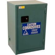 "Global™ Acid Corrosive Cabinet - Manual Close Single Door 12 Gallon- 23""W x 18""D x 35""H"