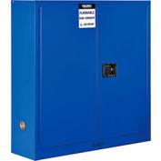 "Global™ Acid Corrosive Cabinet - Manual Close Single Door 24 Gallon - 23""W x 18""D x 65""H"