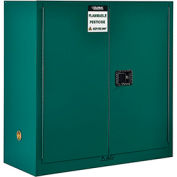 "Global&#8482 Pesticide Storage Cabinet - Manual Close Double Door 30 Gallon - 43""W x 18""D x 44""H"