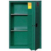 """Global&#8482 Pesticide Storage Cabinet - Manual Close Bi-Fold Single Door 30 Gallon - 43""""W x 18""""D x"""