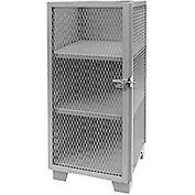"Jamco Heavy Duty Narrow Storage Cabinet ME224GP - Expanded Mesh Door 24""W x 24""D x 54""H"