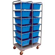 Jamco All Welded Steel Lug Tote Cart TL236-U5-AS-NB - 12 Lug Tote Capacity, No Totes