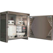 Aluminum Vertical Gas Cylinder Cabinet - 2 Cylinder Capacity