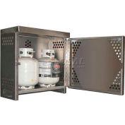 Aluminum Vertical Gas Cylinder Cabinet - 2 Cylinder Capacity