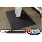 """Noise Reduction Antifatigue Mat 9/16"""" Thick 36"""" W Up To 30ft Black"""