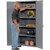 """Jamco Heavy Duty Storage Cabinet DL260-GP - Welded 14 ga. 60""""W x 24""""D x 78""""H, Gray"""