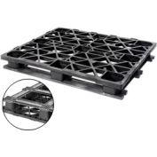 Double Deck Plastic Pallet 48x40 Capacity 3000 Lbs