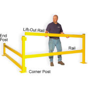 "20""H Single Rail In-Line Post"