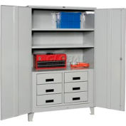 Heavy Duty Storage Cabinet with Drawers  48 x 24 x 78