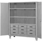 Heavy Duty Storage Cabinet with Drawers  60 x 24 x 78